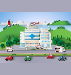 hospital building vector image