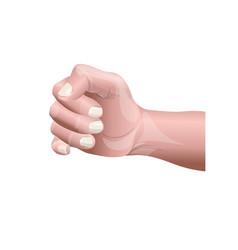 human male hand vector image