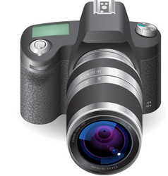 Icon for SLR camera vector image