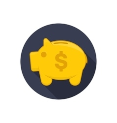 Icon moneybox vector