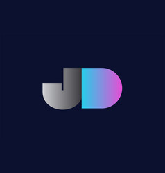 initial alphabet letter jd j d logo company icon vector image