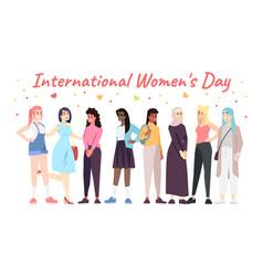 International women day banner template vector