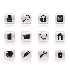 internet and computer icons vector image