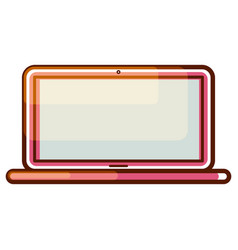 Laptop computer gradient icon vector