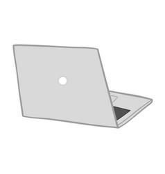 laptop computer hand drawn vector image