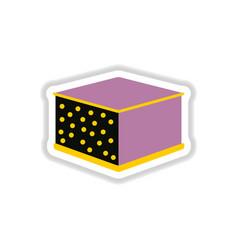 Lasagna sticker vector