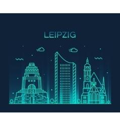Leipzig skyline linear style vector image