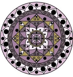 Lilac mandala vector image