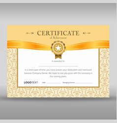 Luxury begie and gold certificate vector