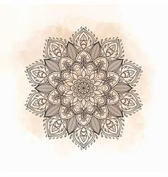 mandala beautiful vintage round pattern in vector image