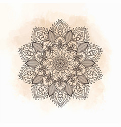 Mandala beautiful vintage round pattern vector