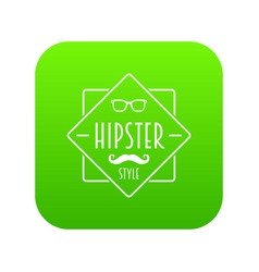 men hipster style icon green vector image