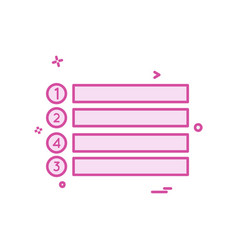 menu buttons icon design vector image