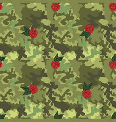 military army seamless pattern vector image