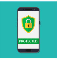 mobile security protection vector image vector image