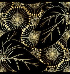 modern otnate floral 3d seamless pattern vector image