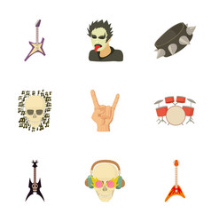 music taste icons set cartoon style vector image
