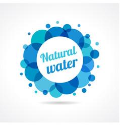 Natural water logo concept vector