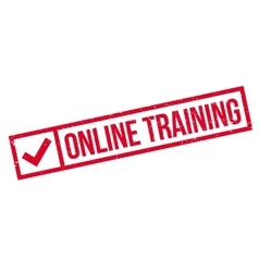 Online training stamp vector