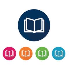 Open book icon education symbol vector