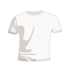 plain white t shirt vector image