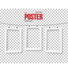 Poster Frame Mockup Realistic EPS10 vector
