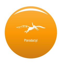 Pterodactyl icon orange vector