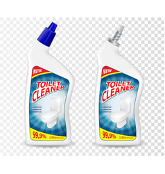 Realistic template toilet cleaner gel package vector