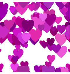 seamless heart background pattern vector image