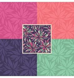Set of floral seamless decorative patterns vector image
