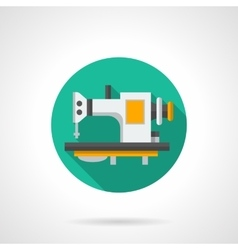 Sewing machines store round flat icon vector image