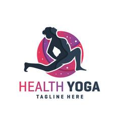 sports yoga training logo vector image