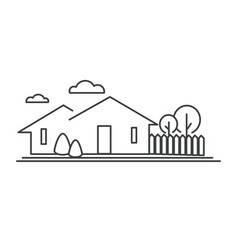 suburban neighborhood residential building town vector image
