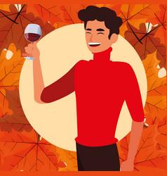 Thanksgiving celebration design vector