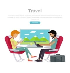 Train Travel Concept Web Banner vector image