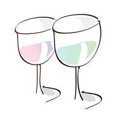 Two glass of water vector