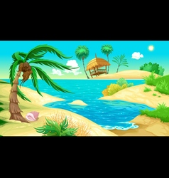 View on the beach vector