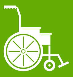wheelchair icon green vector image