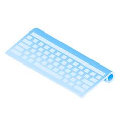 wireless keyboard icon isometric style vector image