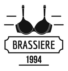 brassiere logo simple black style vector image vector image