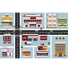 commercial area vector image vector image
