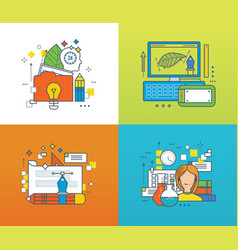 creative design and creation online training vector image vector image