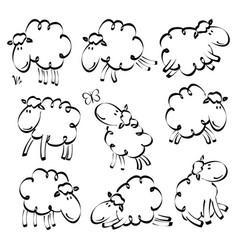 funny sheep drawing vector image vector image