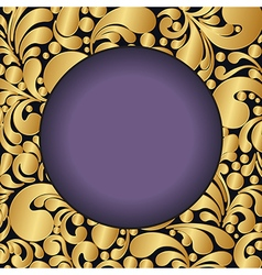 golden curves circle2 vector image