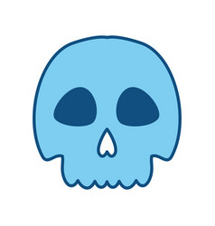 Skull danger and caution alert vector
