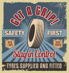 Vintage metal sign -Retro garage poster vector image