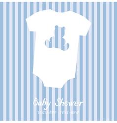 boy shower card vector image vector image