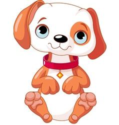cartoon puppy vector image vector image