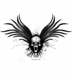 darkness wing vector image vector image