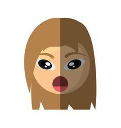 emoticon surprise cartoon design vector image